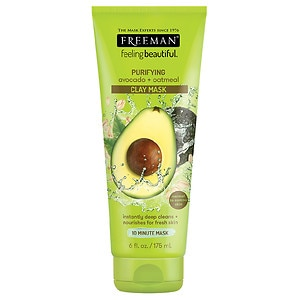 Freeman Feeling Beautiful Facial Clay Mask, Avocado & Oatmeal, Purifying