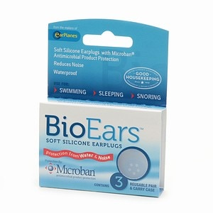 BioEars Soft Silicone Earplugs, 3 ea