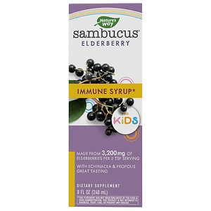 Nature's Way Sambucus For Kids, Berry Flavored, Berry- 8 fl oz