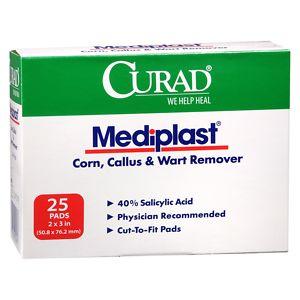 Curad Mediplast Corn, Callus & Wart Remover- 25 pack