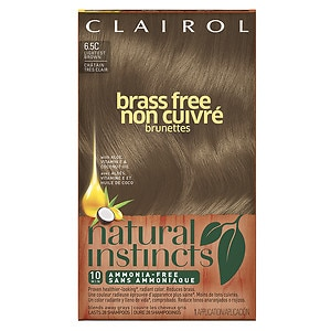 Clairol Natural Instincts Brass Free Semi-Permanent Hair Color, 6.5C Lightest Brown, 1 ea