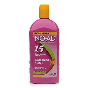 NO-AD Sunscreen Lotion, SPF 15- 16 fl oz