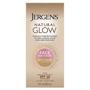 Jergens Natural Glow Healthy Complexion Daily Facial Moisturizer, Fair to Medium Skin Tone