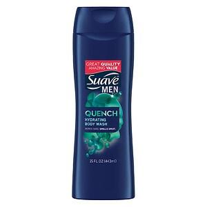 Suave for Men Body Wash, Hydrating Rush- 12 fl oz