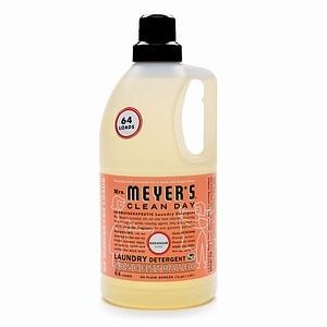 Mrs. Meyer's Clean Day Laundry Detergent, 64 Loads, Geranium- 64 fl oz