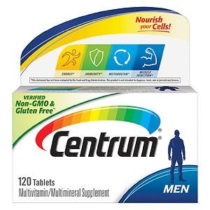 Centrum Men Under 50, Multivitamin, Tablets- 120 ea