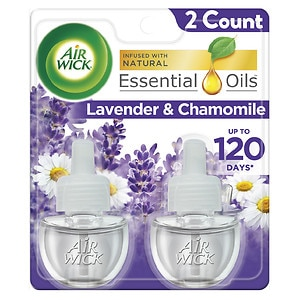 Air Wick Scented Oil Refills, Relaxation, Lavender & Chamomile- 2 ea