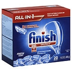 Finish Gelpacs Dishwasher Detergent, Fresh- 20 ea