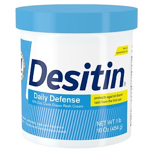 Desitin Diaper Rash Cream, Rapid Relief, Creamy- 16 oz