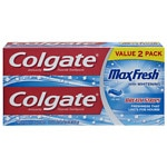 Colgate MaxFresh Fluoride Toothpaste, Twin Pack, Cool Mint
