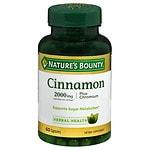 Nature's Bounty High Potency Cinnamon 2000+ Chromium Dietary