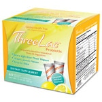 Global Health Trax ThreeLac Probiotic Dietary Supplement, Lemon- 60 packets