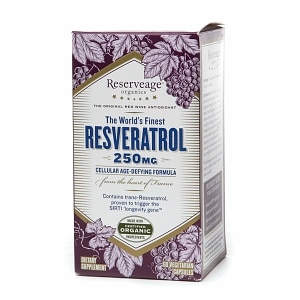 ReserveAge Organics Resveratrol, 250mg, Vegetarian Capsules, 60 ea