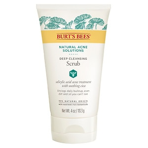 Burt's Bees Natural Acne Solutions Pore Refining Scrub- 4 oz