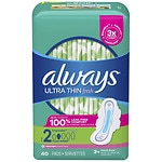 Always Ultra Thin Active Pads with Flexi-Wings, Clean Scent