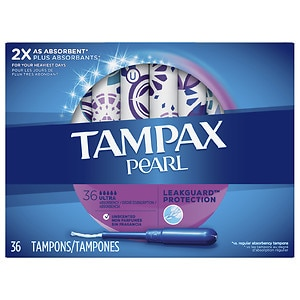 Tampax Pearl Tampons, Ultra, Unscented