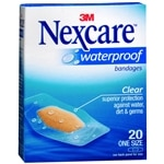 Nexcare Waterproof Clear Bandages 1 1/16in x 2 1/4in- 20 ea
