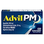 Advil PM Caplets Pain Reliever (NSAID)/Nighttime Sleep-Aid- 120 ea