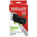 Mueller Green Fitted Left Wrist Brace, Small/Medium- 1 ea