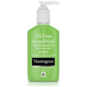 Neutrogena Oil-Free Acne Wash, Redness Soothing Facial Cleanser- 6 fl oz