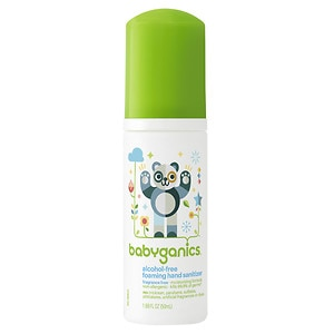 BabyGanics The Germinator, Alcohol-Free Foaming Hand Sanitizer, Fragrance Free, 1.69 oz