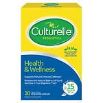 Culturelle Probiotic All Natural Dairy & Gluten Free Vegetable Capsules Lactobacillus GG- 30 ea