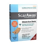 ScarAway 1.5 in. x 3 in. Silicone Scar Sheets- 12 ea