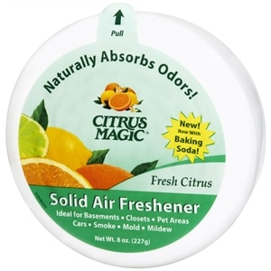 Citrus Magic Solid Air Freshener, Citrus Scent- 8 oz