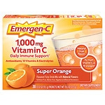 Emergen-C 1000 mg Vitamin C, Super Orange- 30 ea