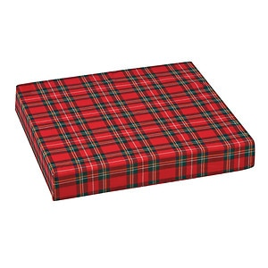 Mabis Standard Polyfoam Wheelchair Cushion, Plaid- 1 ea