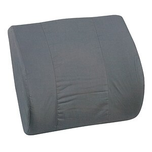 Mabis Lumbar Memory Cushion with Strap, Black- 1 ea