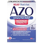 AZO Urinary Pain Relief Tablets, Maximum Strength- 24 ea