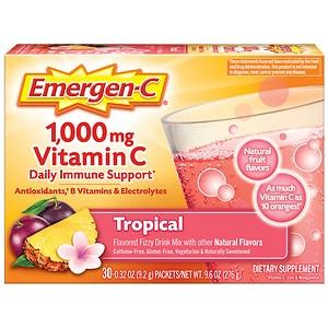 Emergen-C 1000 mg Vitamin C, Tropical- 30 ea