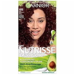 Garnier Nutrisse Permanent Haircolor, Soft Mahogany Dark Brown 415- 1 ea