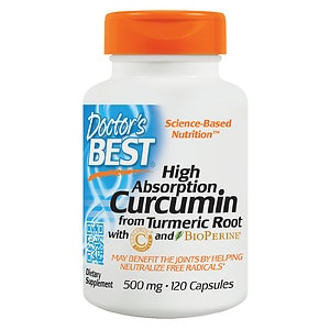 Doctor's Best Curcumin C3 Complex with BioPerine, 500mg, Capsules- 120 ea