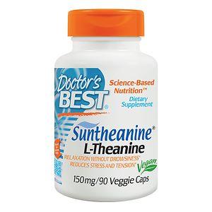 Doctor's Best Suntheanine L-Theanine, 150mg, Veggie Caps- 90 ea