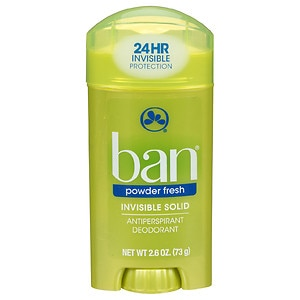 Ban Invisible Solid, Antiperspirant & Deodorant, Powder Fresh- 2.6 oz