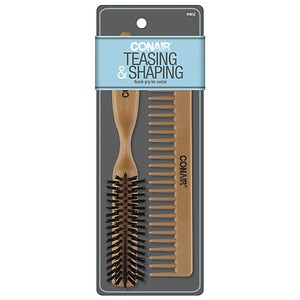 Conair Brush All-Purpose Thumb-Grip Design Brush & Comb Set, For Teasing & Shaping Styles- 1 set