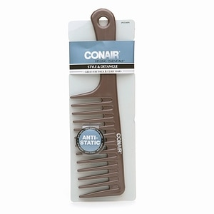 Conair Brush Styling Essentials Style & Detangle Comb, Great for Thick & Curly Hair, 1 ea