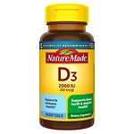Nature Made Vitamin D3 2000 IU, Liquid Softgels