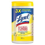 Lysol 4 in 1 Disinfecting Wipes, Citrus