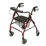 Lumex Walkabout Rollator, Burgundy