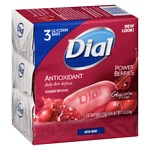 Dial Glycerin Bar Soap, Cranberry & Anti-Oxident- 3 ea