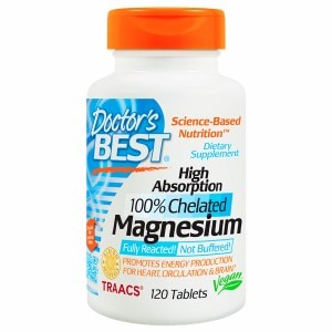 Doctor's Best High Absorption 100% Chelated Magnesium, Tablets- 120 ea