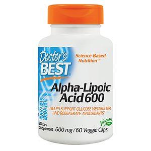 Doctor's Best Alpha-Lipoic Acid, 600mg, Veggie Caps- 60 ea