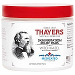 Thayers Medicated Witch Hazel with Organic Aloe Vera Formula Astringent Pads
