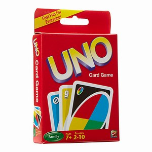 Mattel Uno Card Game, Ages 7+- 1 pack
