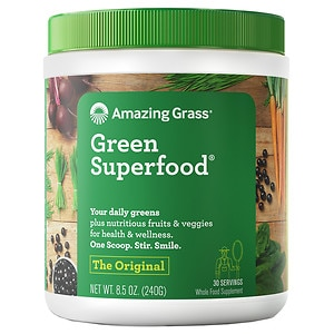 Amazing Grass Green SuperFood All Natural Drink Powder, Original, 8.5 oz