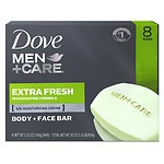 Dove Men+Care Body & Face Bar, Extra Fresh, 8 pk