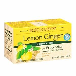Bigelow Herb Tea plus Probiotics, Lemon Ginger, 18 pk